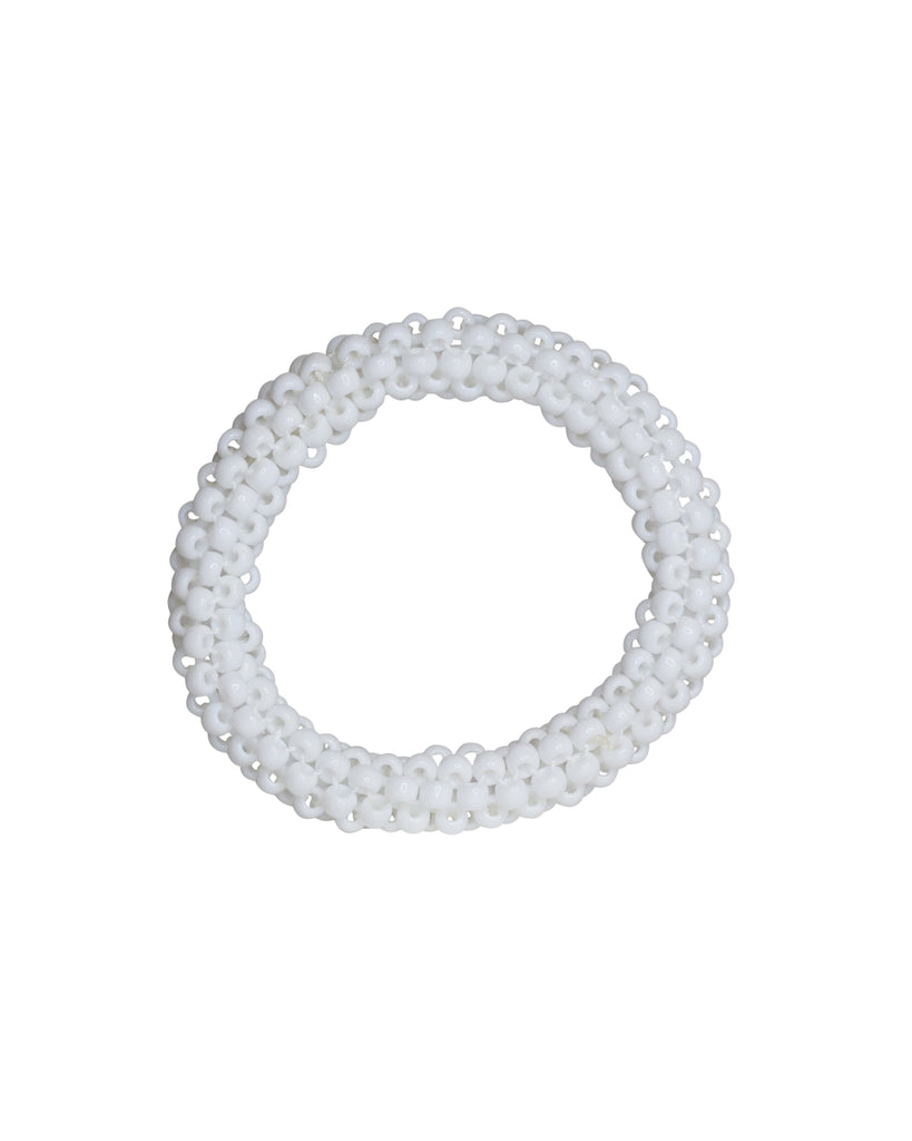 Paula Dunlop Glossy Opaque White Bangle