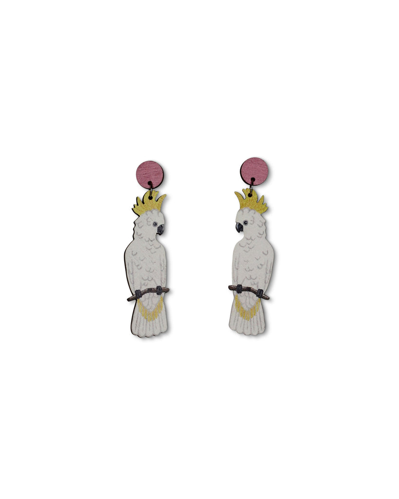 PN White Cockatoo Earring