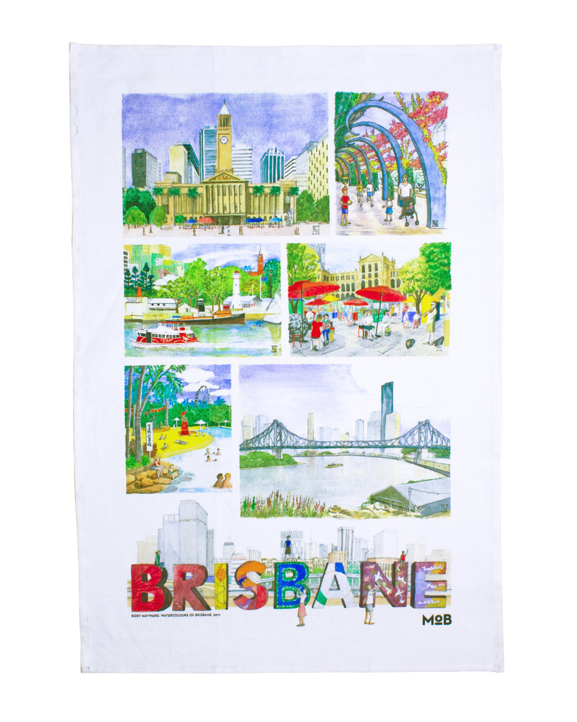 MoB x Rosy Hayward Brisbane Tea Towel