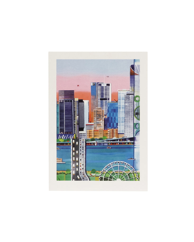 Sarianti Designs, Brisbane City Wheel Greeting Card