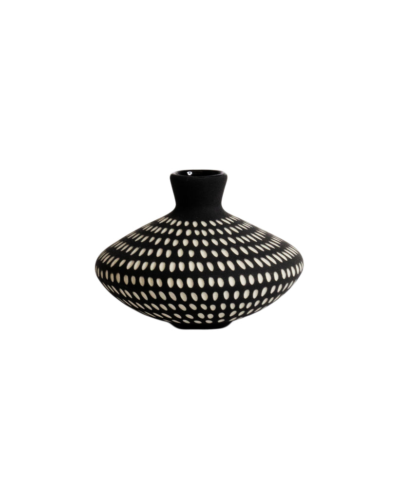 Sharon Muir Black and White UFO Vase