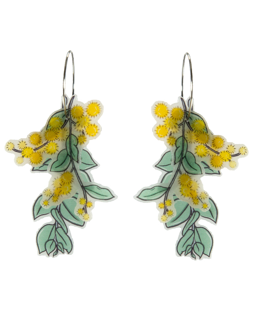 Busy Head Wattle Statement Hoops