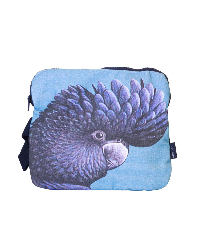 Bambambu iPad pouch Black Cockatoo