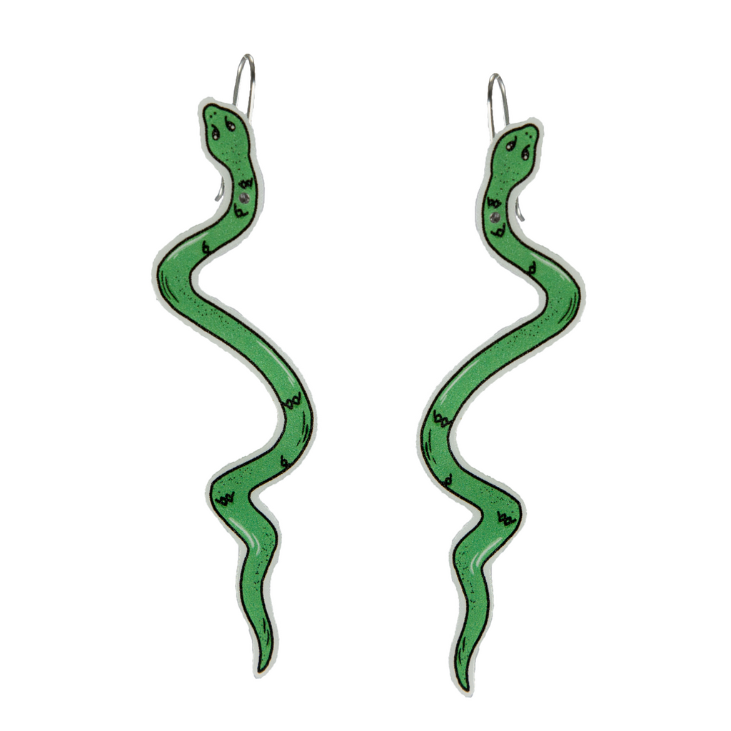 Busy Head Snake Earrings
