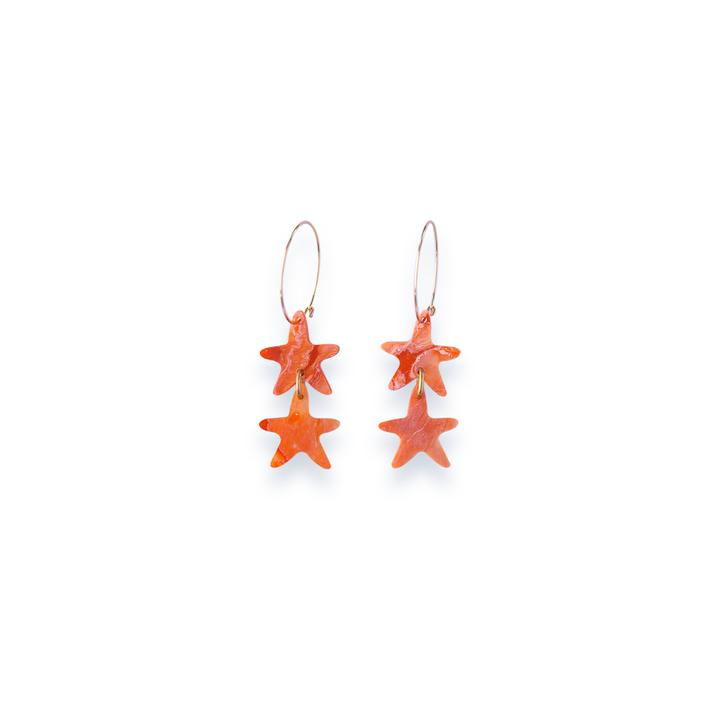 Concrete Jellyfish Starfish Hoops Orange