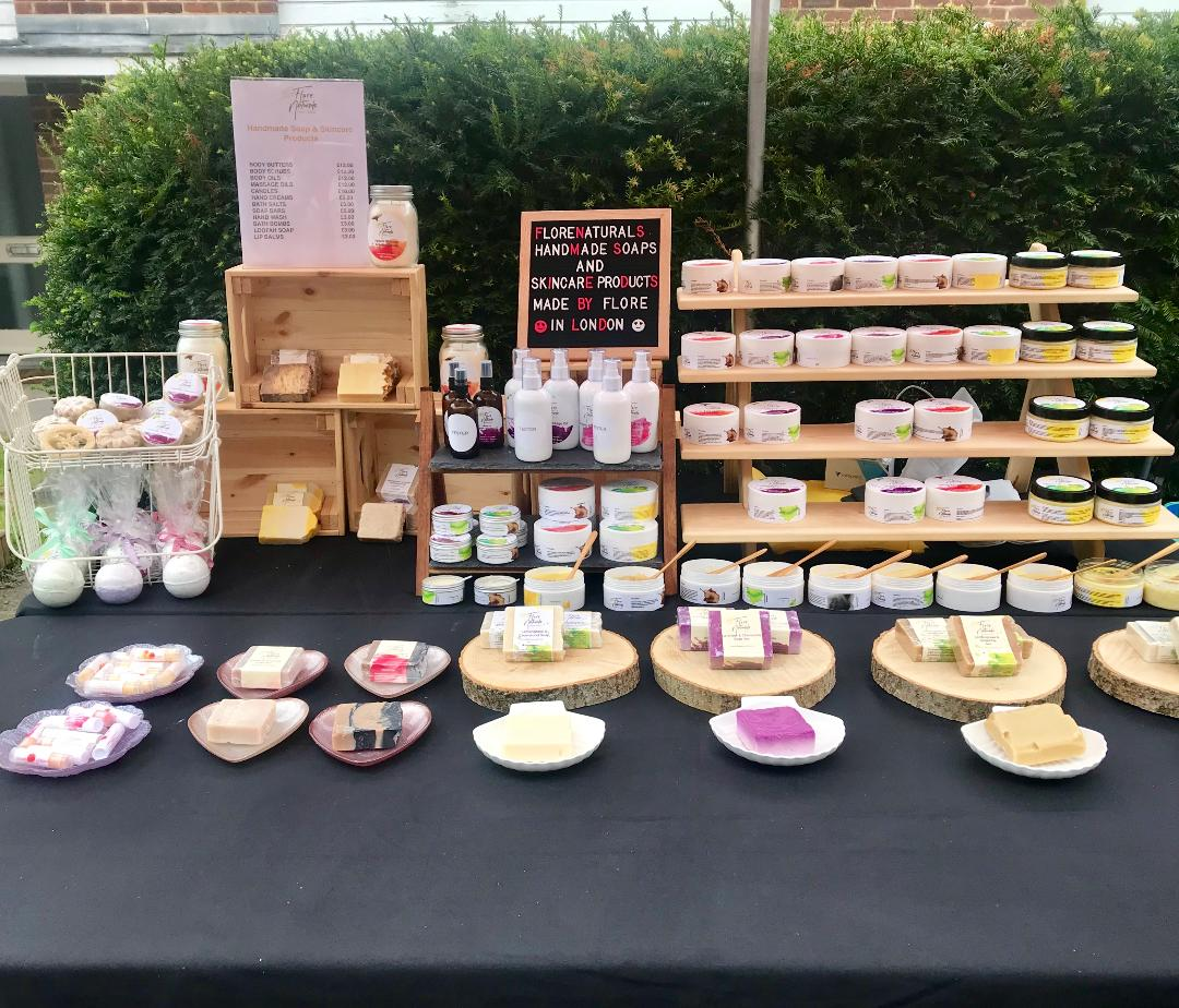 Florenaturals at farmers Markets in Crystal Palace