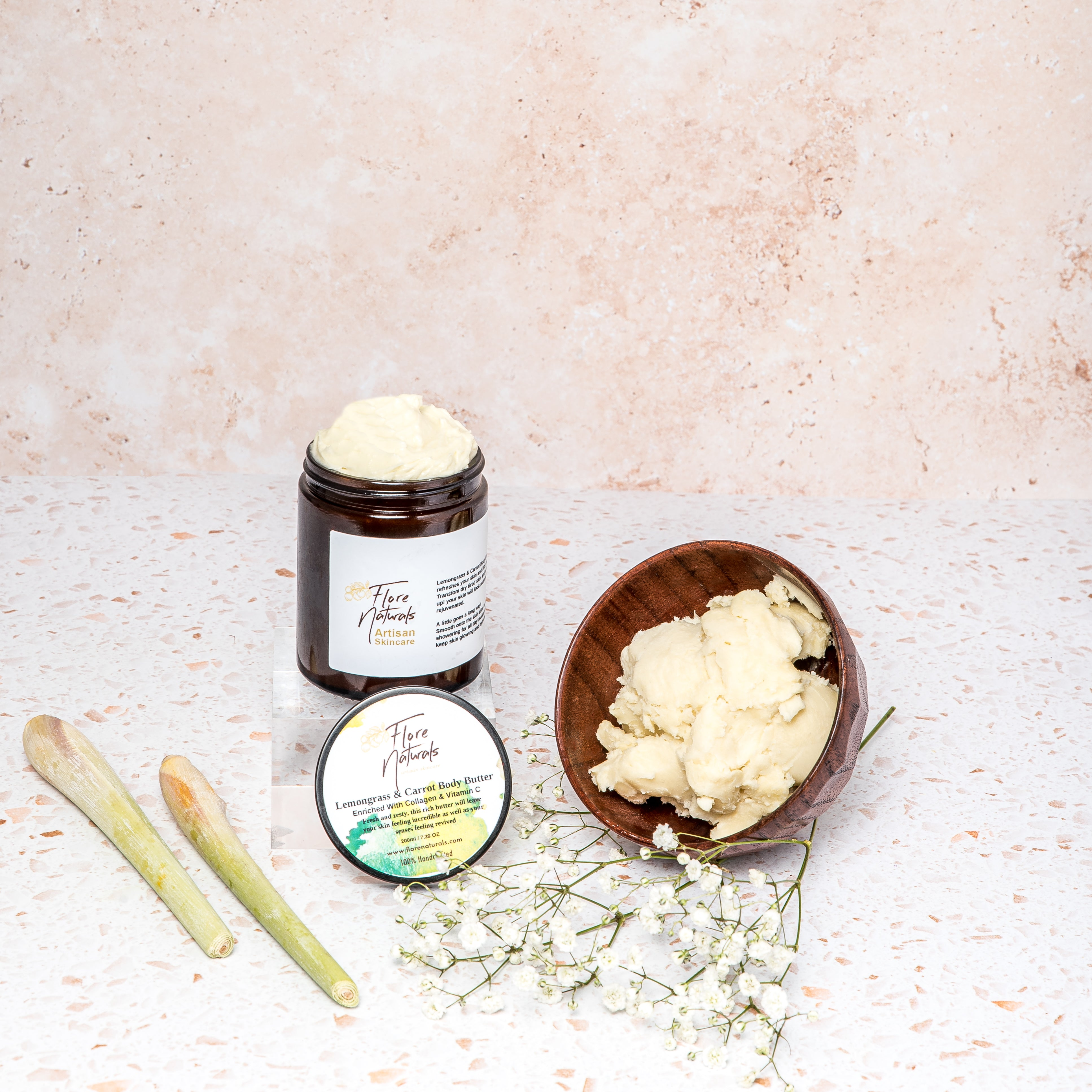 Lemongrass & Carrot Body Butter - Collagen with Vitamin C