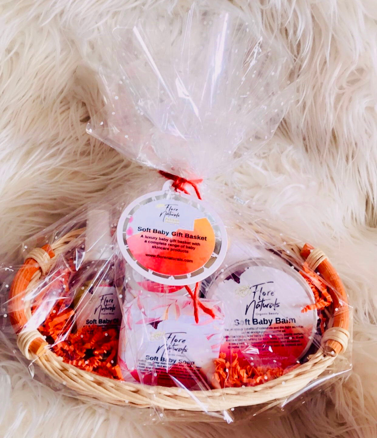 Soft Baby Gift Basket - Sweet Orange