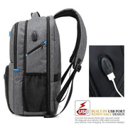 Herren USB Laptop Aktentasche Business Travel Rucksack