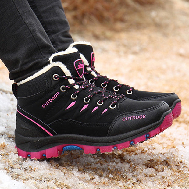 Women's outdoor hiking shoes wear non-slip breathable plus velvet warm shoes