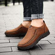 Men's leather breathable non-slip shoes