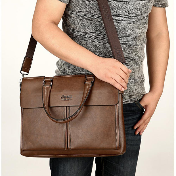 Herren Handheld Business Schulter Messenger Bag Computer Aktentasche vertikal