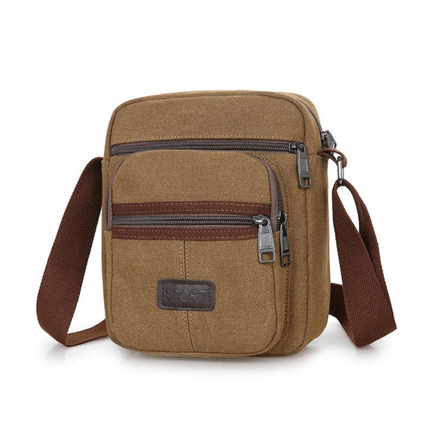 Herren Outdoor Freizeit Canvas Schulter Messenger Bag