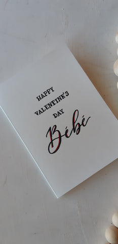 Happy Valentine's Day Bebe card