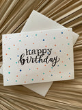 Happy Birthday Painted dots Card