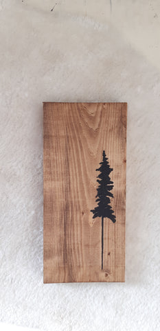 Single Tree Wood sign