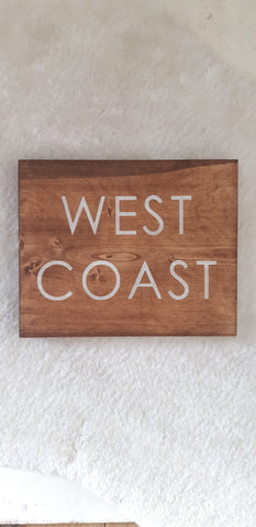 West Coast Wood sign