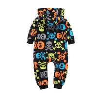 Hooded Skull Jumpsuit 12M-18M