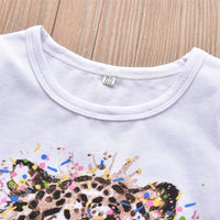 Colourful Animal Short Sleeve T-shirt With Leopard Pants And Headband 3M-24M - childzania