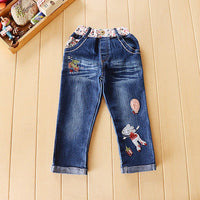 Letter Sweater + Jeans Cartoon Set 3Y-6Y - childzania