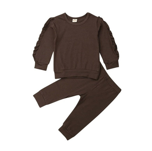 Ruffle Sweatshirt  With Pants 12M-3Y - childzania