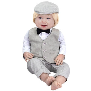 Baby Boy Gentleman Formal Outfit 3PCS - childzania