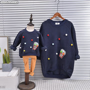 Mother And Daughter  Matching Popcorn Sweaters 9M-4Y