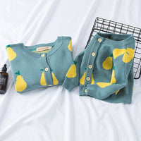 Yellow Pears Matching Sweaters 12M-7Y