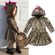 Hooded Dinosaur Dress 12M-4Y