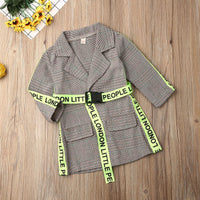 2020 Fashion Light Belted Coat 12M-5Y