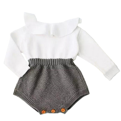 Knitted Long Sleeve Romper 3M-18M