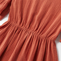 Matching Solid Colour Ruffle Dresses