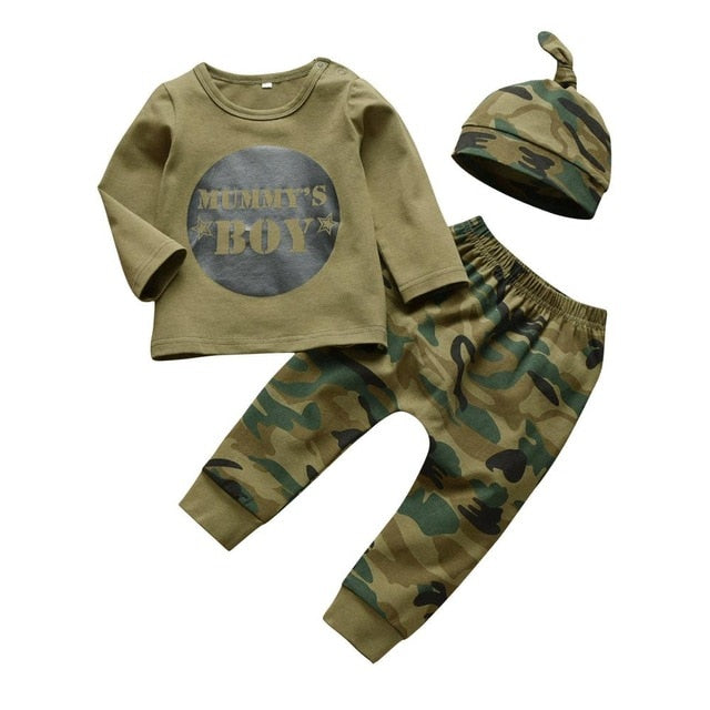 Mummy's Daddy's Boy Girl Leggings with Top and Hat/Headband Set