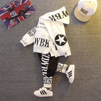 Sport Letters Hoodie With Trousers 2PCS Set 12M-5Y