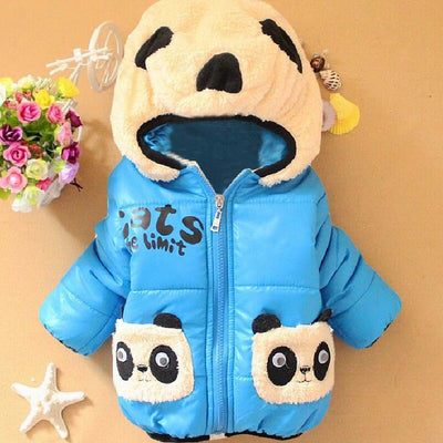 Panda Cartoon Hooded Coat 2Y-5Y