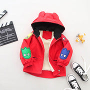 Children Fashion Cartoon  Fleece Jacket 2Y-5Y