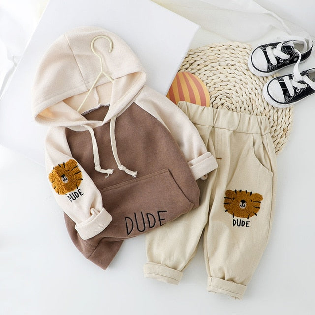 Dude Hoodie with Trousers Set 9M-4Y