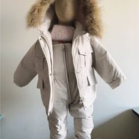 2PCS Winter Down Jacket and Jumpsuit Set 9M-4Y