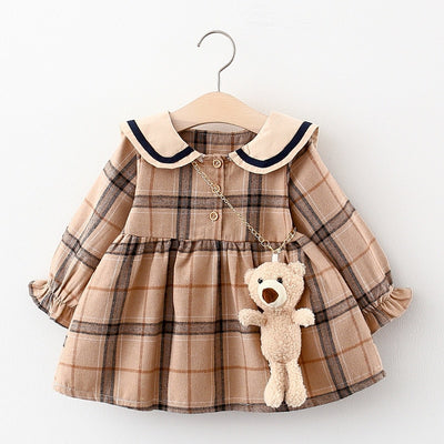 2021 Vintage Dress With Chain Bear 9M-24M