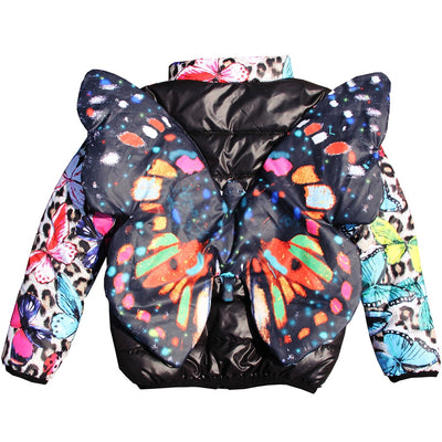 Butterfly 3D Girls Coat 2Y-10Y
