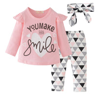 You Make Smile Top With Pants+Headband 3M-24M - childzania