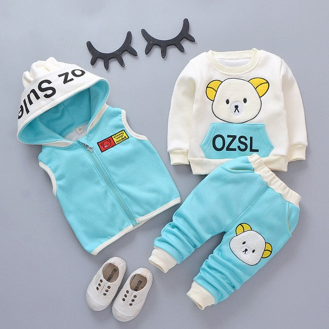 OZSL  Sweatshirt With Joggers And West 3PCS Set 12M-4Y - childzania