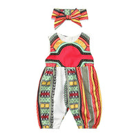 Sleeveless African Loose Jumpsuit 3Y-6Y - childzania