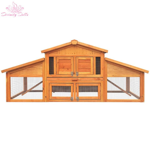 Gardeon 2 Storey Wooden Hutch - Pet Care