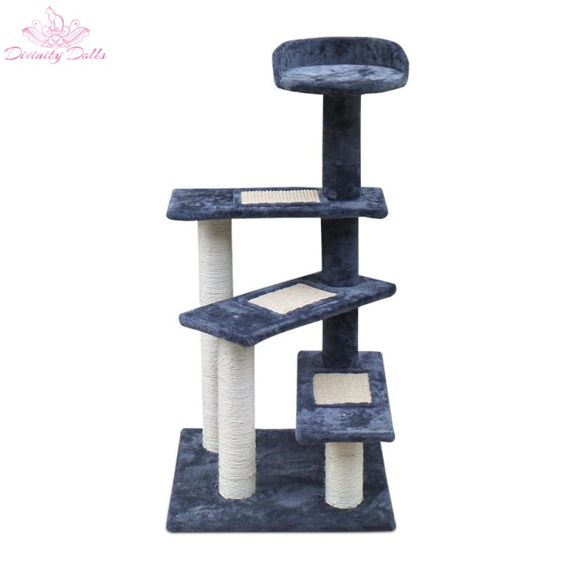i.Pet 100cm Multi Level Cat Scratching Tree - Grey - Pet Care