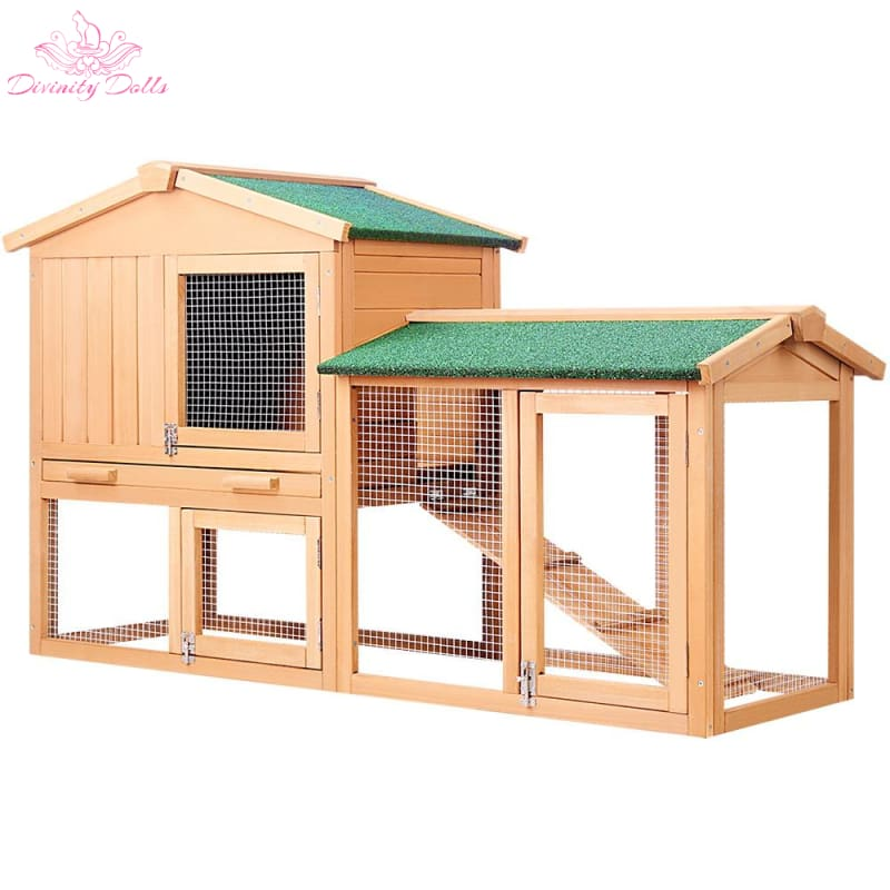 i.Pet 138cm Wide Wooden Pet Coop - Pet Care