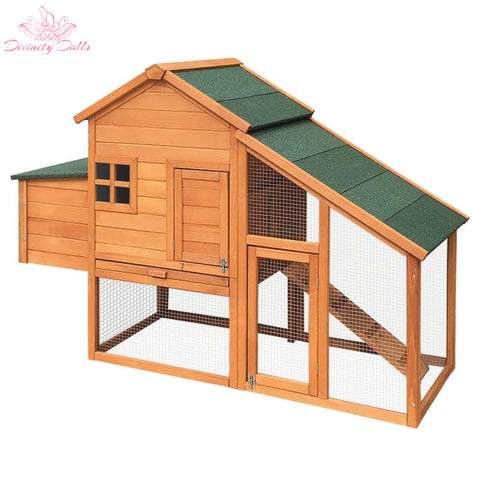i.Pet 171cm Wide Wooden Chicken Coop - Pet Care