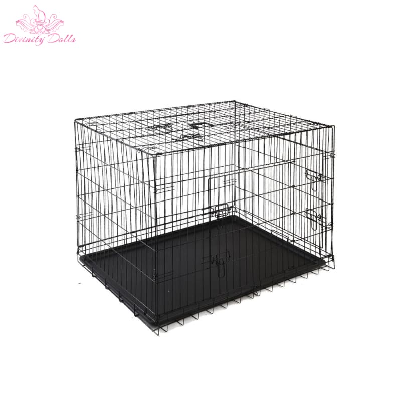 i.Pet 42inch Pet Cage - Black - Pet Care