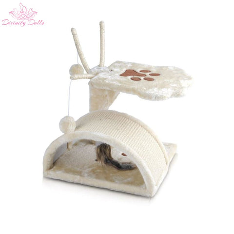 i.Pet 45cm Cat Scratching Tree - Beige - Pet Care