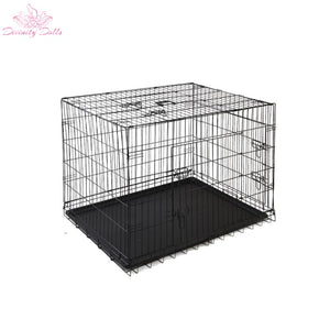 i.Pet 48inch Pet Cage - Black - Pet Care